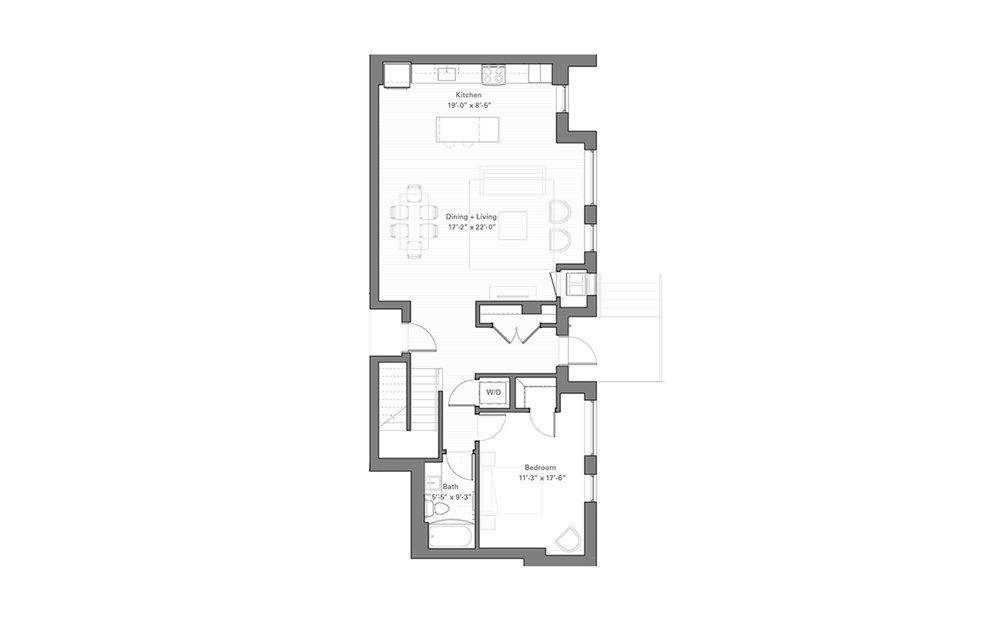 Lilidale Cw - Walkup - 2 bedroom floorplan layout with 2 baths and 1596 square feet. (Floor 1)