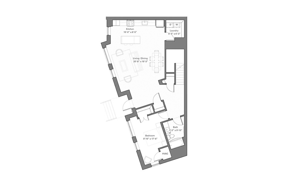 Lilidale Dw - Walkup - 2 bedroom floorplan layout with 2 baths and 1730 square feet. (Floor 1)